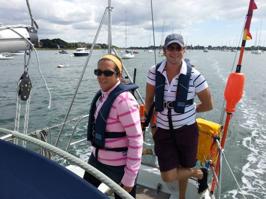Sailing out of Chichester harbour